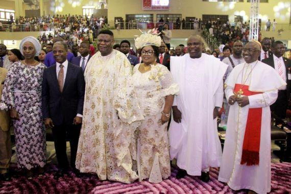 Ambode, Osinbajo, At Bishop Okonkwo's Birthday Thanksgiving (Photos)