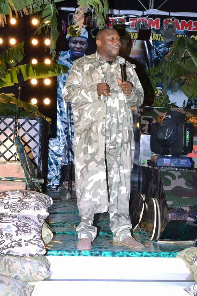 Bishop Tom Samson Pictured Ministering In Church Dressed In Military Outfit