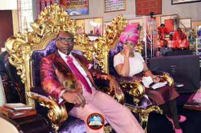 See Ex-CAN President, Oritsejafor's Wife's Stylish Look To Church, Rocks Leggings