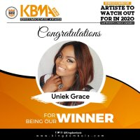 Congratulations To Uniek Grace, The Winner Of Kingdomboiz Music Awards