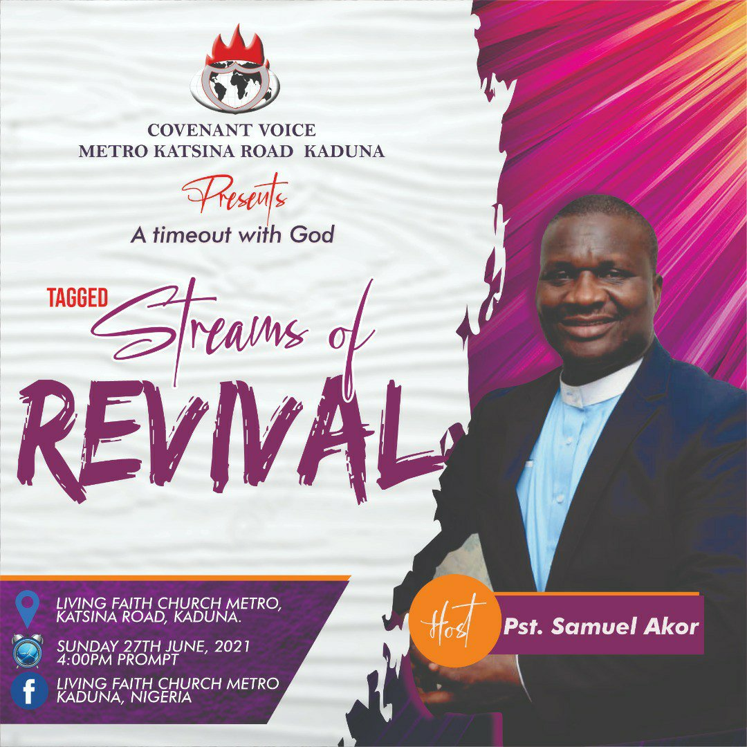 """Event: Covenant Voice Presents A Timout With God tagged """"Streams Of Revival"""""""