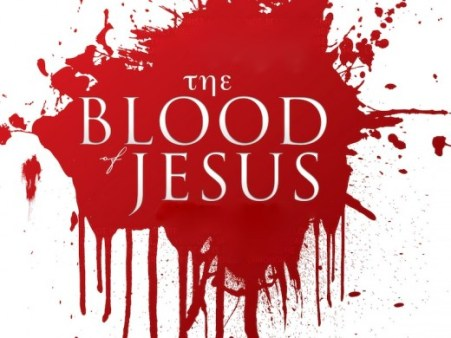 An image with the inscription_The blood of Jesus
