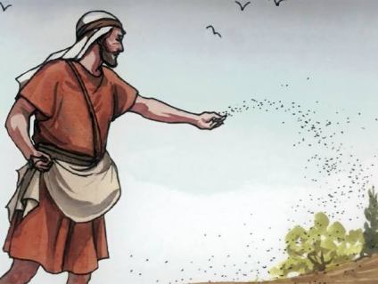 A man throwing seeds on a farm land_from the post_miracle of seed faith by Oral Robert