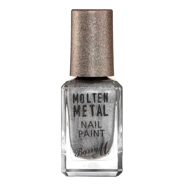 Barry M molten metal nail varnish silver lining