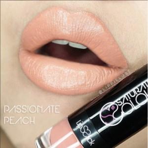 Saturated colour lipstick passionate peach