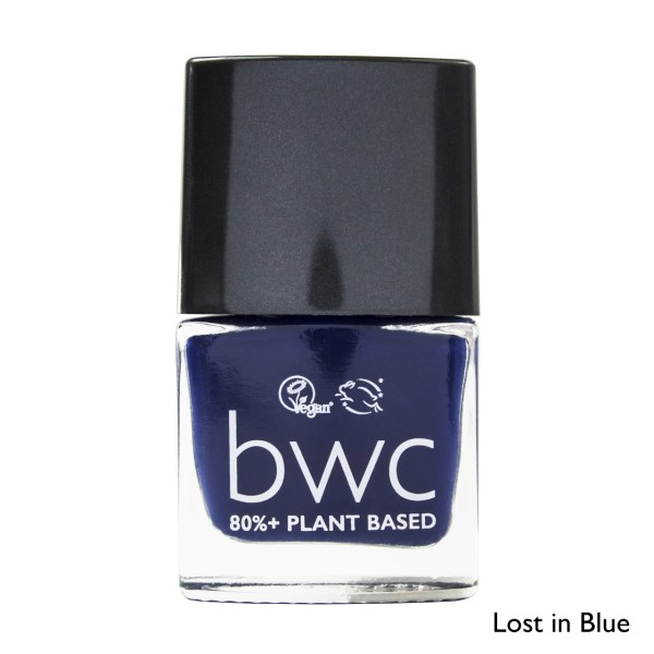 Beauty Without Cruelty nail varnish lost in blue