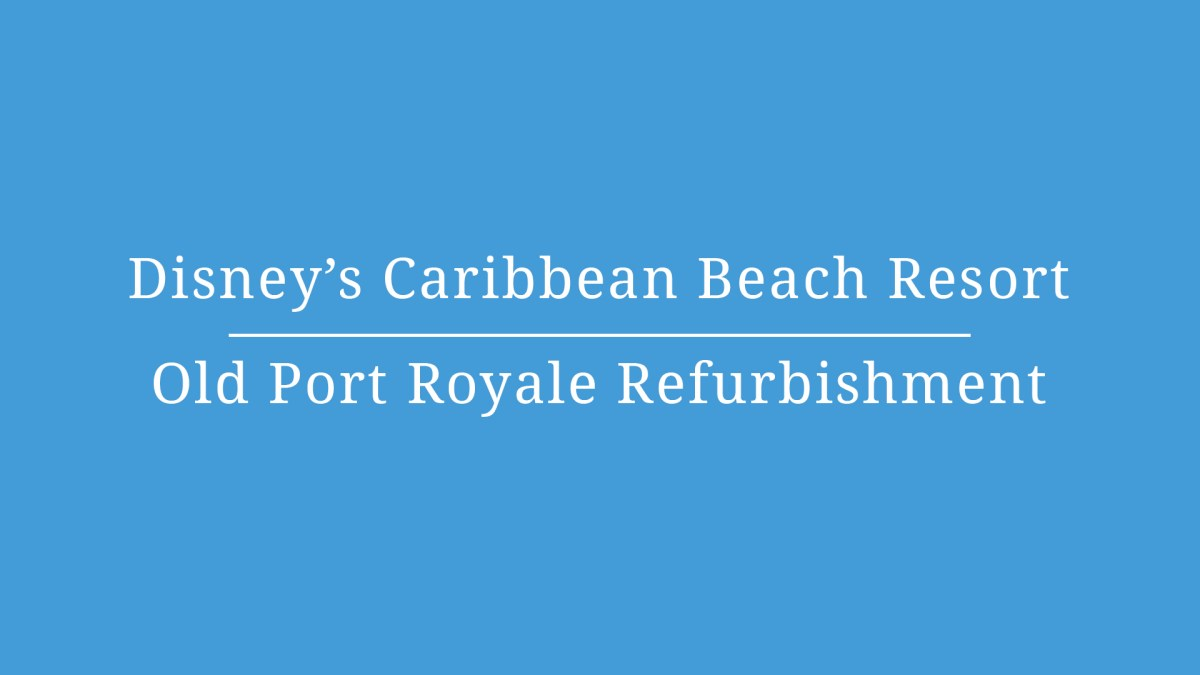 Disney's Caribbean Beach Resort Dining – Video