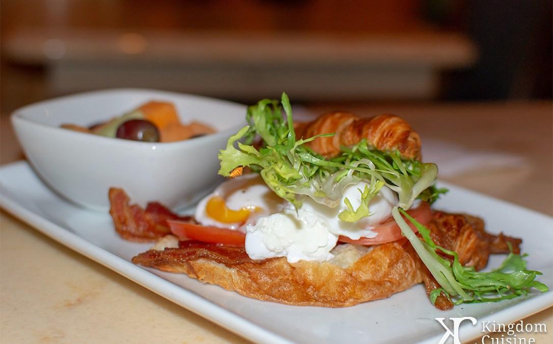 Open-Faced Bacon and Egg Sandwich