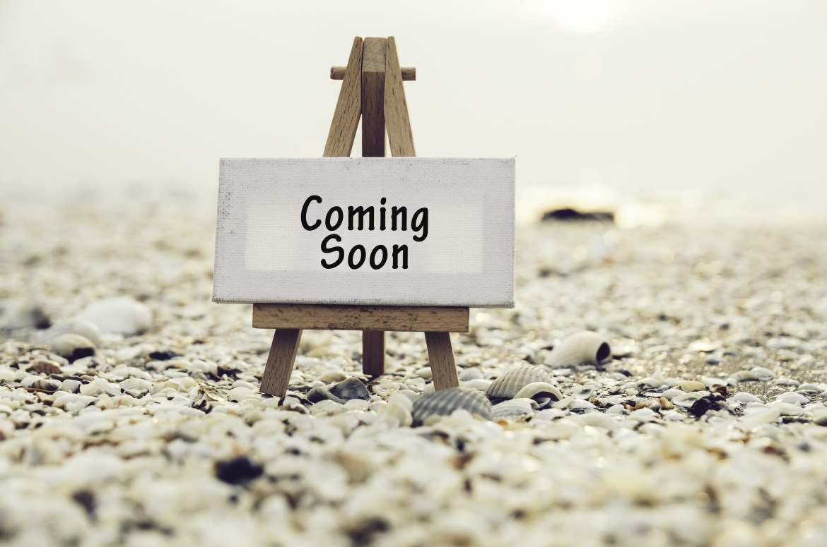 coming soon sign on art canvas