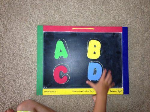 ABC Chalkboard Match