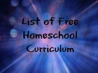 List of Free Homeschool Curriculum