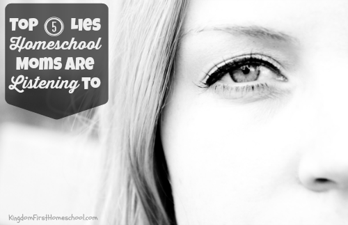 Mama you are being lied to. As a homeschool mom, for about 5 years now…I have heard a lot of lies from every way humanly possible to hear. Whether through my own doubts or thoughts, satan's lies planted in my thoughts, or people in general. What are you listening to? Here are theTop 5 lies homeschool moms are listening to