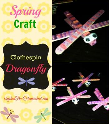 Clothespin Dragonfly Craft   Kingdom First Homeschool