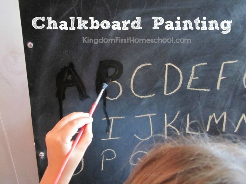 Fine motor skills activities - Chalkboard Painting
