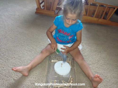 Fine Motor skills activities - Golf Tee Hammer Time