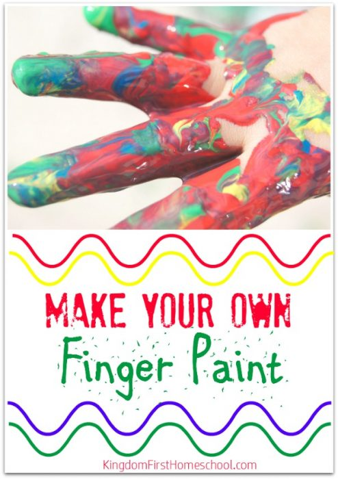 Check out this easy finger paint recipe to make for your kiddos. Fun and frugal.