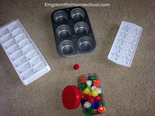 pom pom one to one correspondence activity