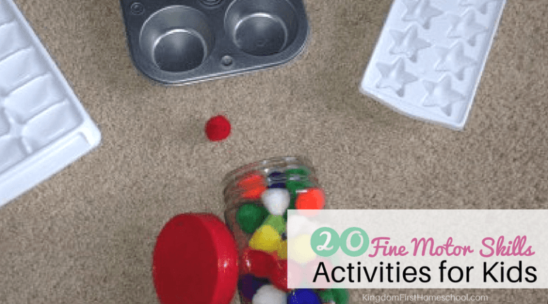 20 fine motor skills activities for preschoolers