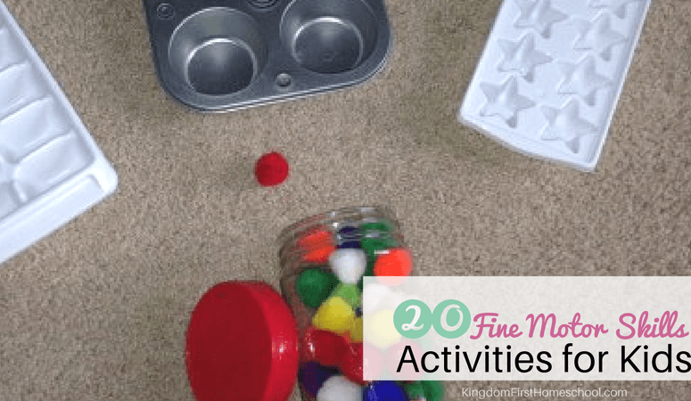 20 Fine Motor Skills Activities for Toddlers and Preschoolers