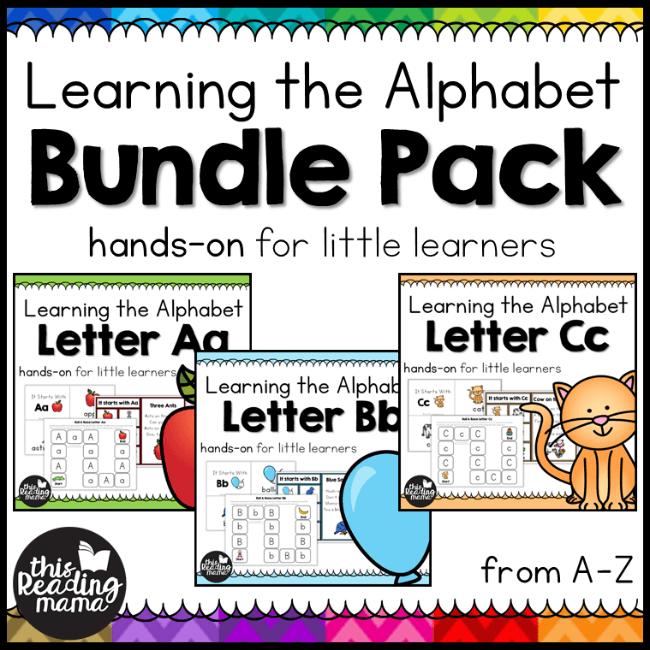 Learning the Alphabet Bundle - Homeschool Preschool Curriculum
