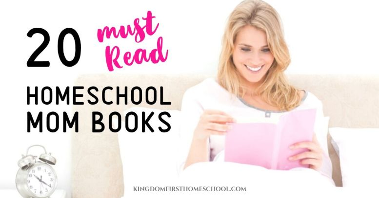20 Must Read Homeschool Mom Books! These are my top homeschooling book choices I believe every homeschool mom needs to have in her extensive library. Some of these books for homeschool moms can be found at the library, but most of these you are going to want your own copy to read again and again. Yes, they are that good.