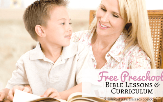 Free Preschool Bible Lessons and Curriculum