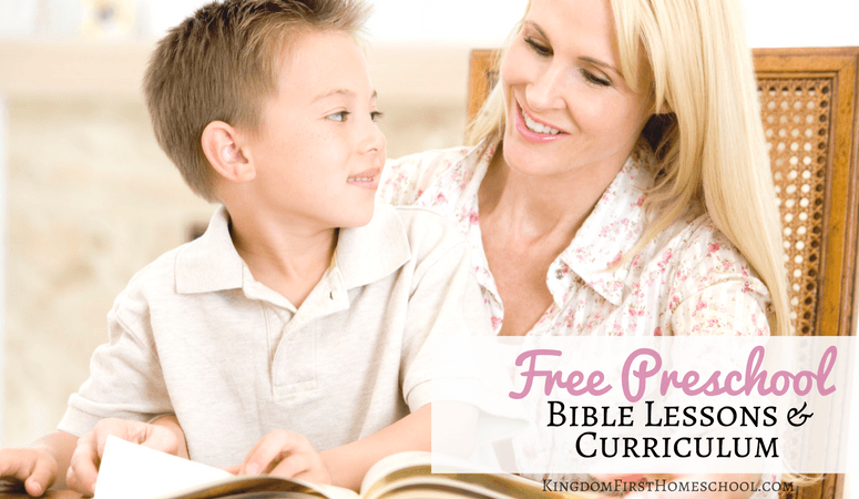 Free Preschool Bible Lessons and Curriculum for kids