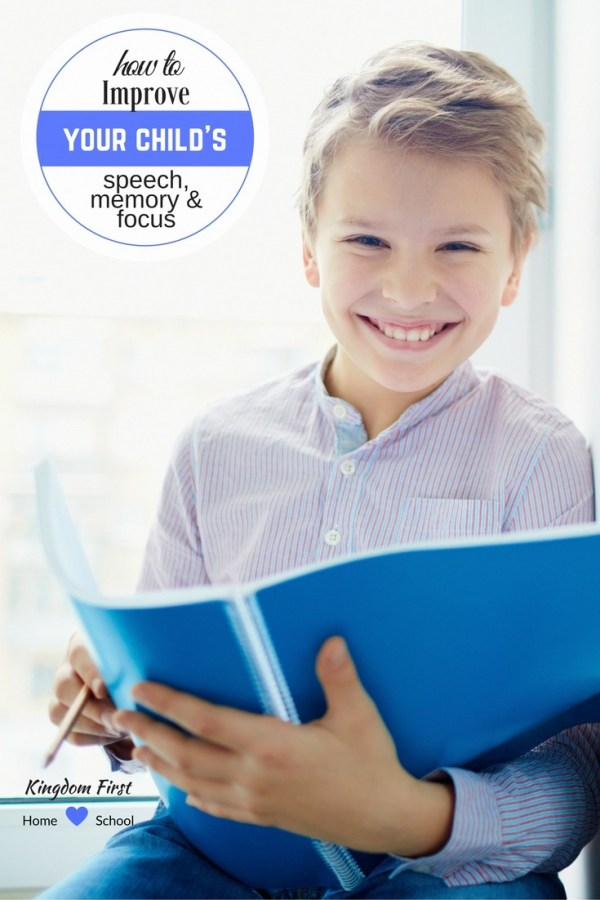 How to improve your child's speech issues, memory & focus.