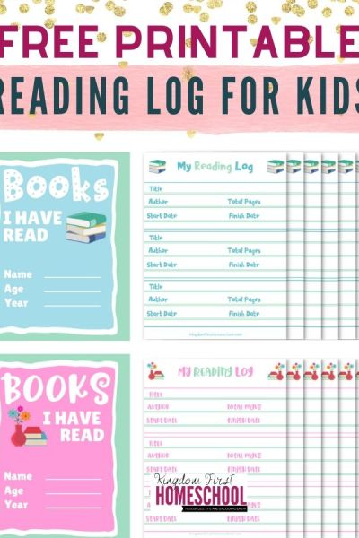 FREE PRINTABLE READING LOG BOOK FOR KIDS