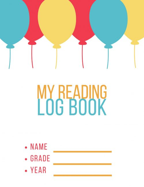 My reading log book free printable