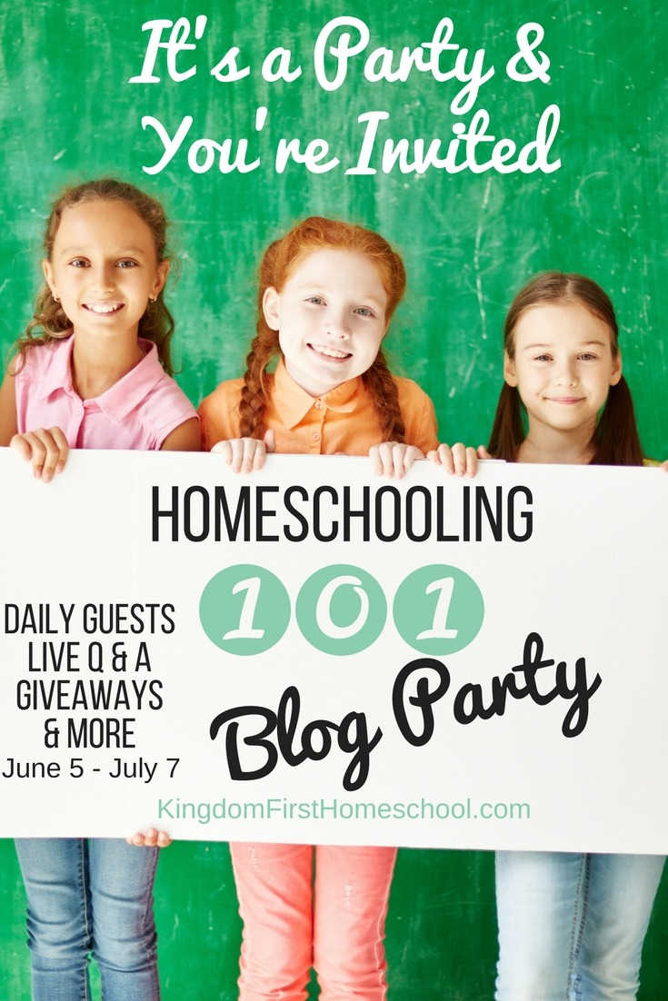 School's out for summer! So let's party! No not that kind of party. HA! The kind of party that you walk away from feeling refreshed and ready to start a new homeschooling journey or start your next homeschool year revived and energized! Homeschooling 101 is THAT party! Daily posts from amazing homeschool bloggers, Live Q & A, Giveaways, Exclusive Facebook Group and MORE.