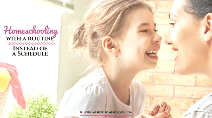 Homeschooling with a Routine Instead of a Schedule