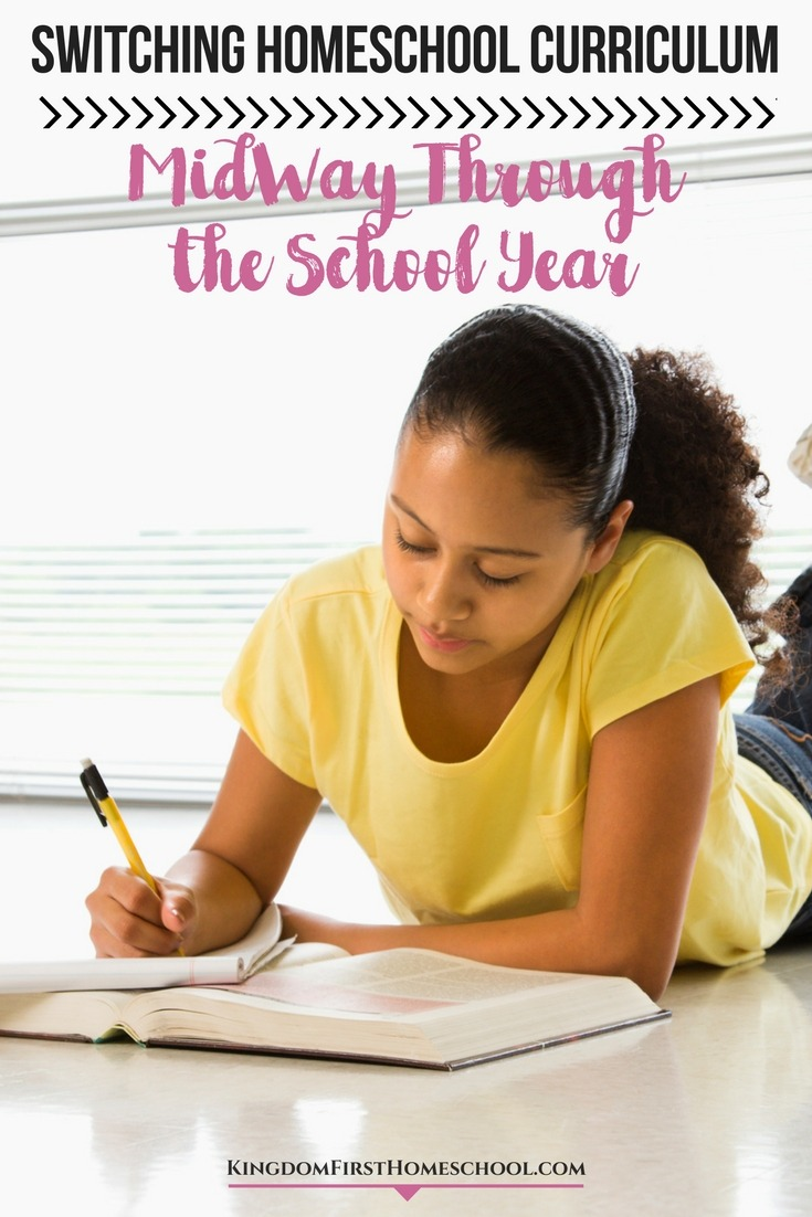 Switching homeschool curriculum midway through the school year is absolutely okay. If it's not working - switch it up. Check out these tips to help.