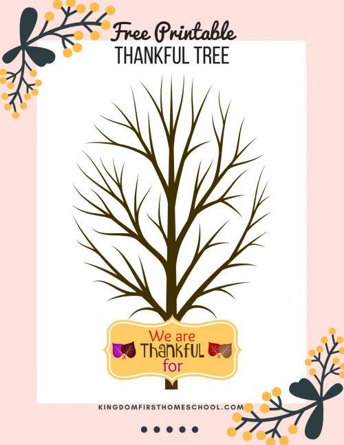 Thankful Tree Free Printable
