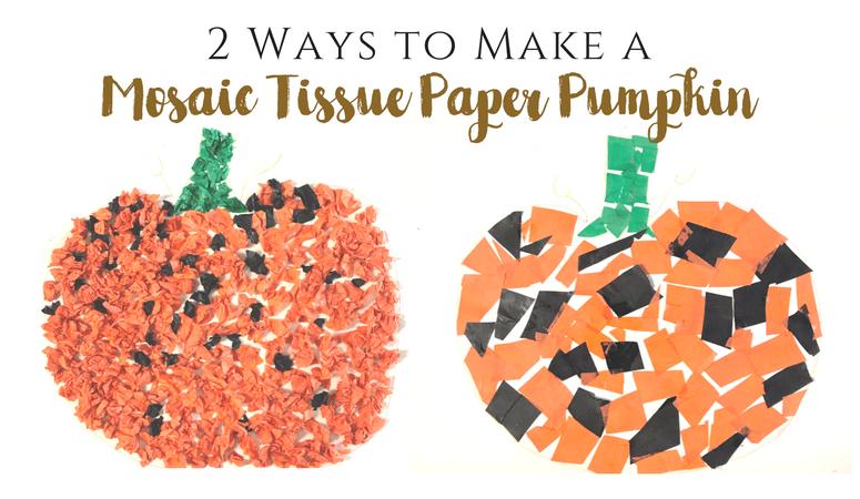 Mosaic Tissue Paper Pumpkin Craft for Kids – 2 Methods