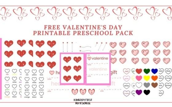 Free Valentine's Day Preschool Printable Pack