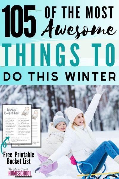 105 Family Winter Activities