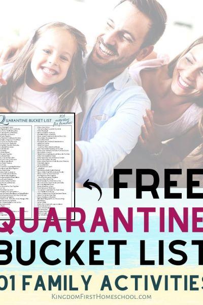 Free Quarantine Bucket List