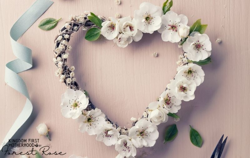 Ultimate Guide to Valentine's Day Kids Crafts and Activities - heart shaped wreath craft with artificial flowers