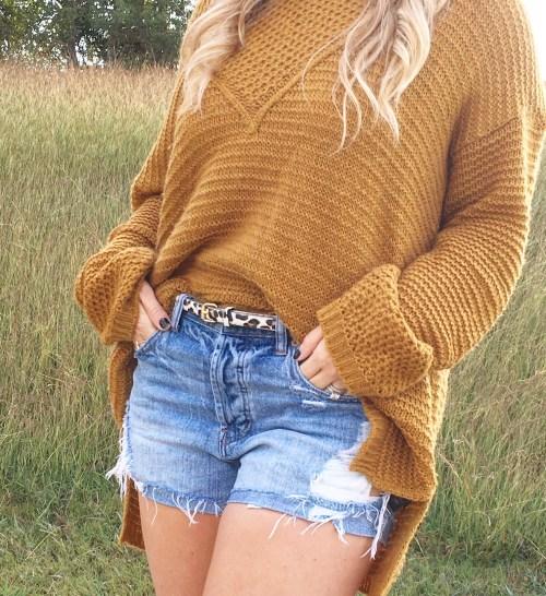 mustard sweater & leopard