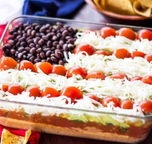 patriotic 7 layer dip