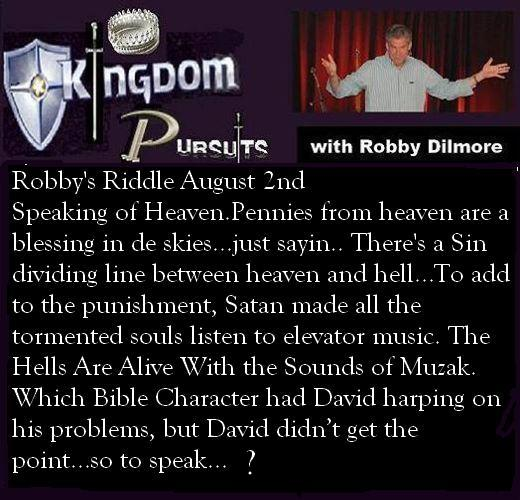 Robby's Riddle August 2