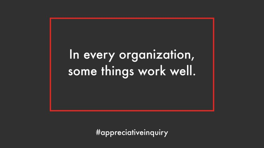 in every organization some things work well