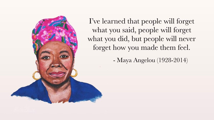 Maya Angelou Quote About How You Make People Feel