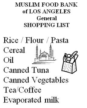General Shopping List