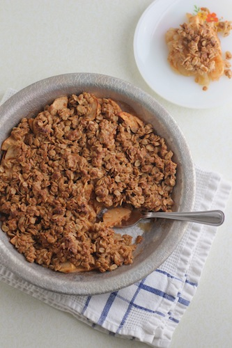 Vegan Oatmeal Apple Crisp