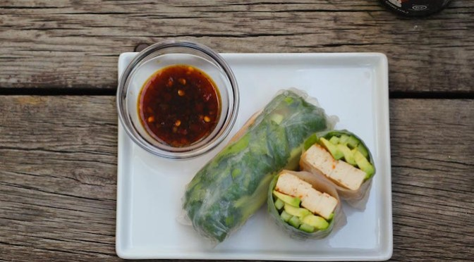 Vegetarian Tofu Summer Rolls Recipe