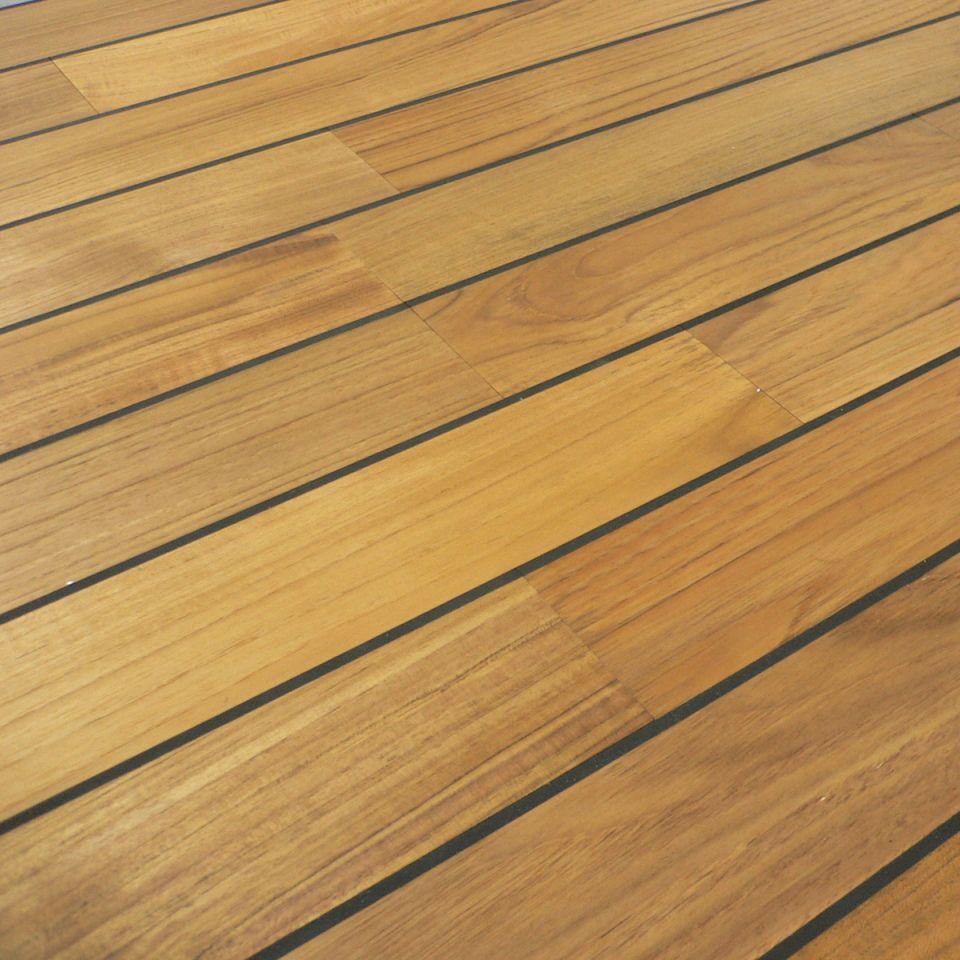 Colours Bali Boat Effect Teak Real Wood Top Layer Flooring