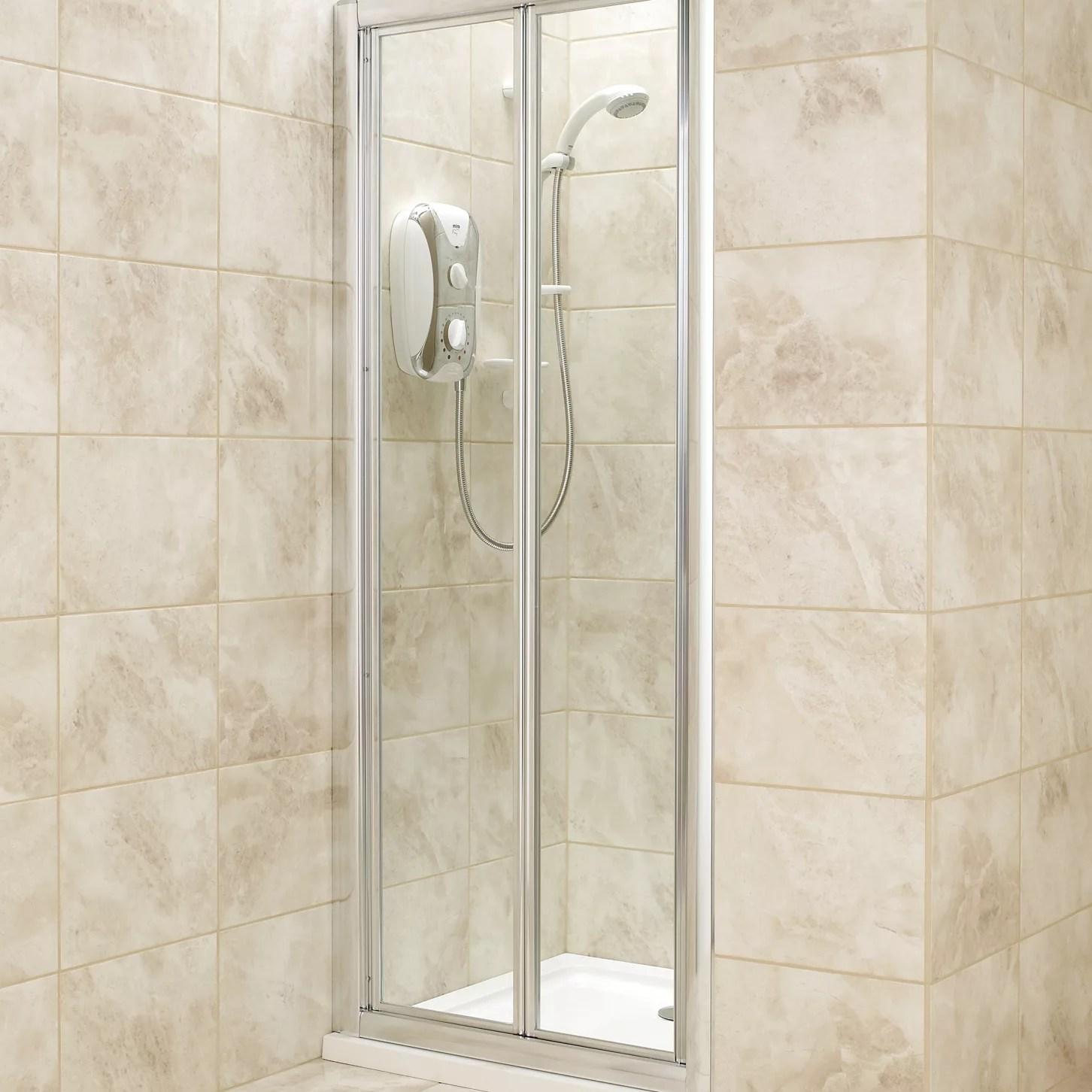 BampQ Bi Fold Shower Door W760mm Departments DIY At BampQ