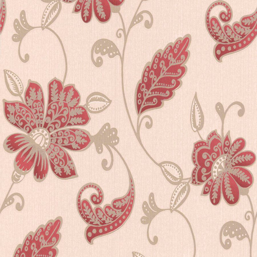 Graham Amp Brown Juliet Red Floral Wallpaper Departments